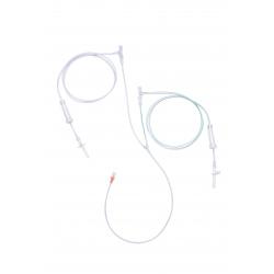 Tub conector cu supapa si camera de picurare pentru injectomate Dual Head pentru substanta de contrast