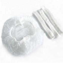 Bonete medicale tip capeline set 100 bucati culoare alb